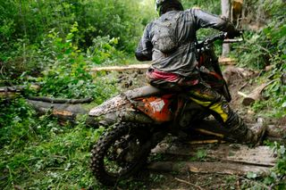 Препятствия на трассе в лесу